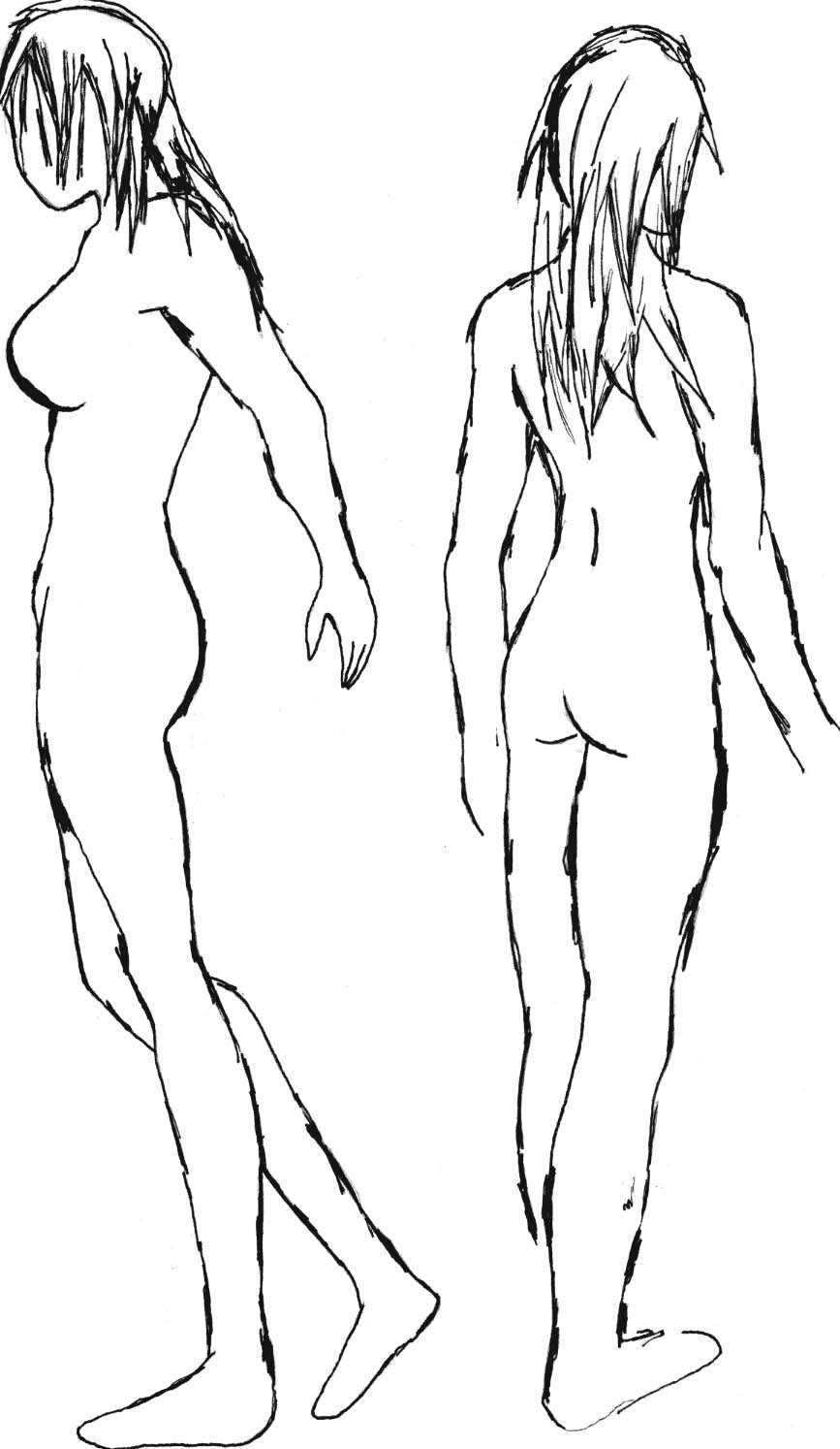 867x1494 Full Female Body Back And Side By Mailbox765