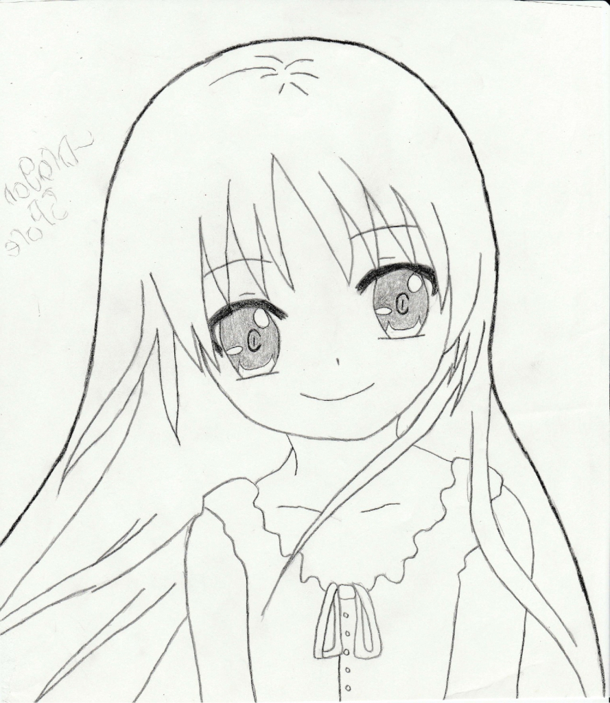 889x1024 Cute Anime Girls Drawing Simple Anime Girl Drawing Cute Anime Girl