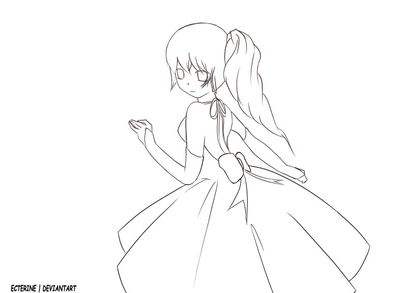 792x576 Drawn anime outline female