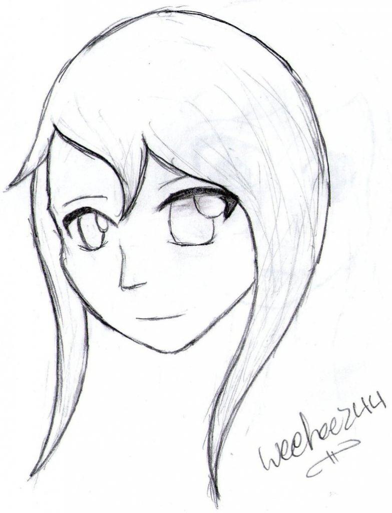 783x1024 Easy To Draw Anime Girls Easy Draw Anime Girl