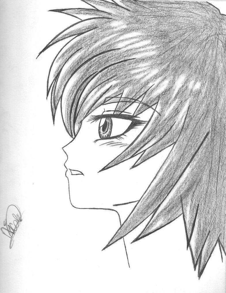 785x1017 Anime Girl Drawing In Profile By Raenbowveins13