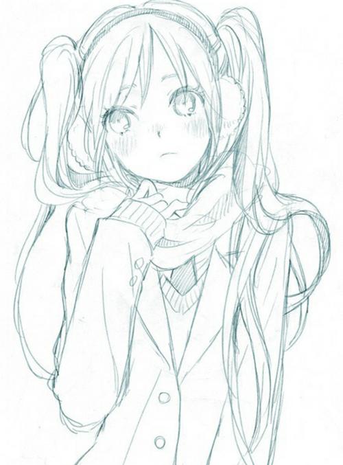 562x762 drawn manga cute drawing 500x677 drawn scarf anime