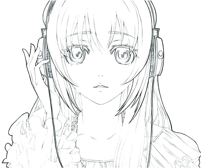 Anime Girl Drawing A Picture At Getdrawings Com Free For