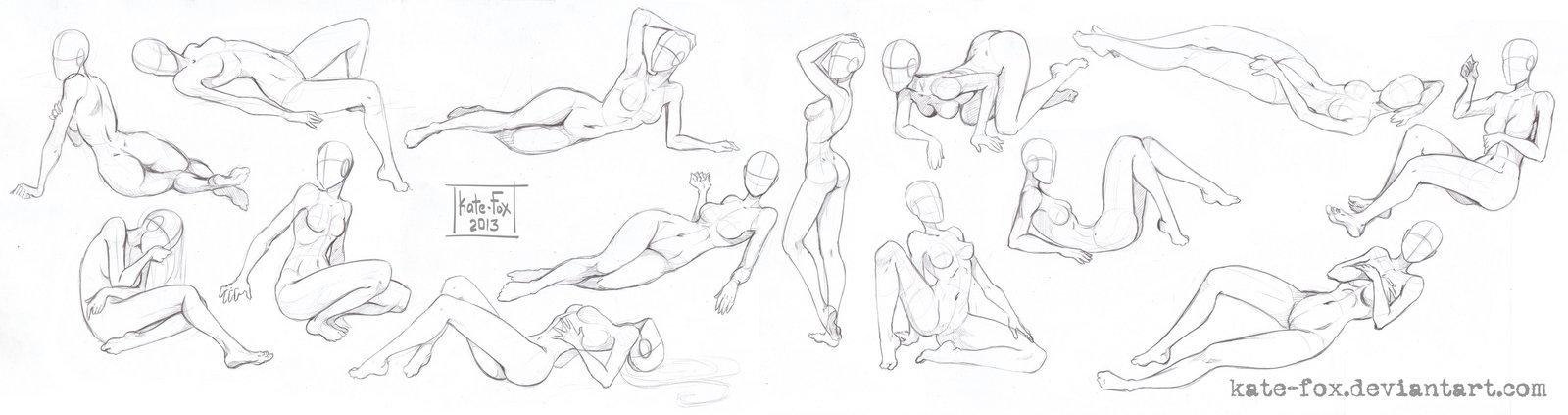1600x423 Base Like References, Female On Drawingbases