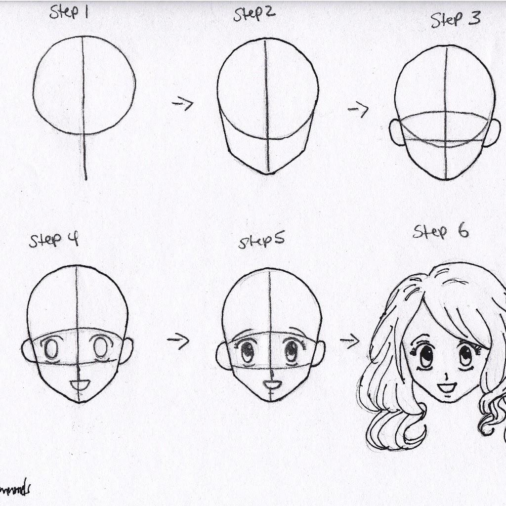 1024x1024 Drawing Anime Girl Body