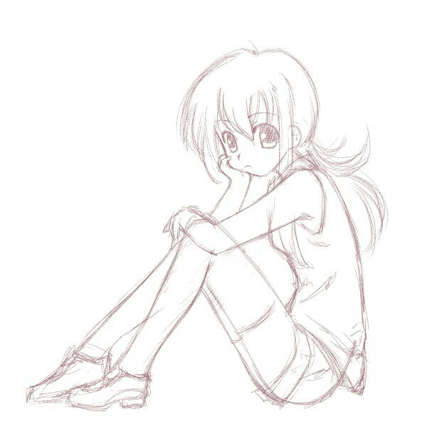 600x600 Bored girl drawing Drawings Pinterest Anime and Manga