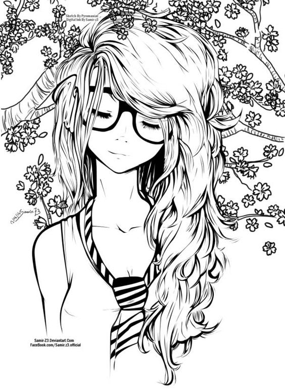564x771 Drawing girls, Anime girl hairstyles and Long hair on Pinterest