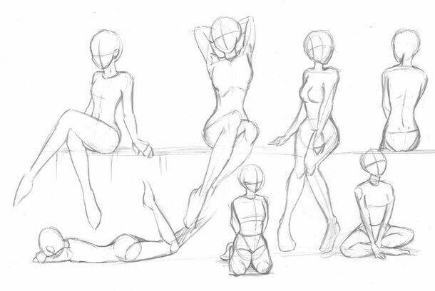 610x409 Photos Anime Body Positions,
