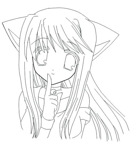 433x480 Unusual Ideas Anime Girl Coloring Pages Kids