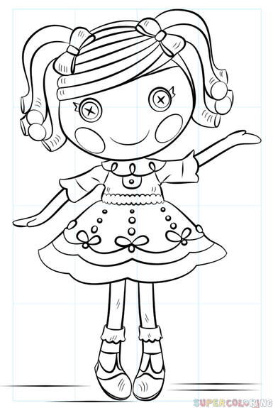 385x575 How To Draw Lalaloopsy Doll Step By Step Drawing Tutorials