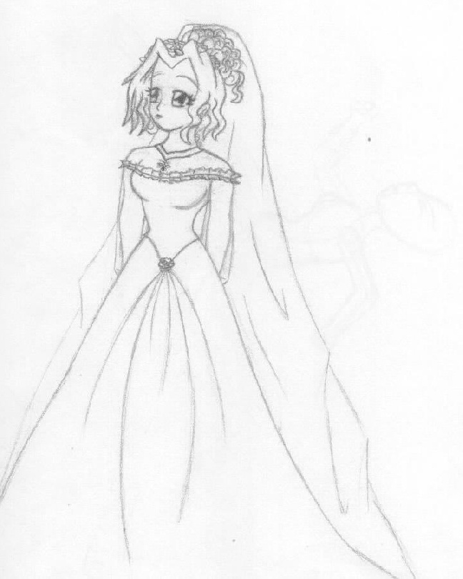 Anime girl dress drawing