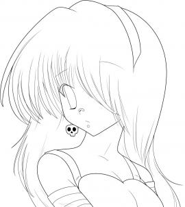 Anime Girl Easy Drawing At Getdrawings Com Free For Personal Use