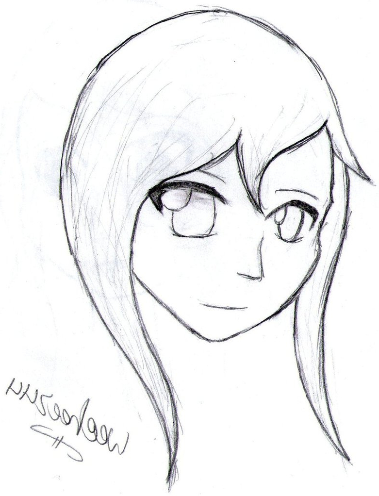 781x1022 Anime Girl Pretty Face Drawing Girl Archives