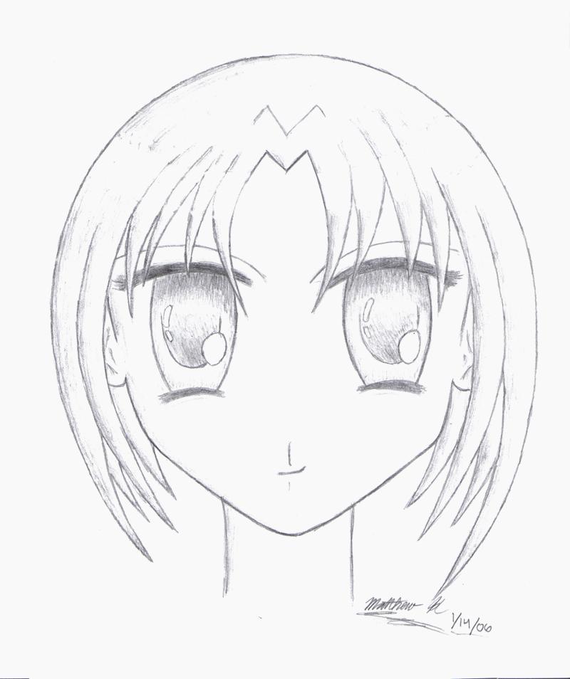 800x954 Anime Girl Sketch By Crazydawg43