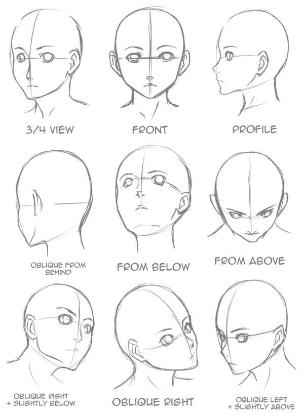 600x828 Drawing How Draw A Anime Girl Head In Conjunction With How