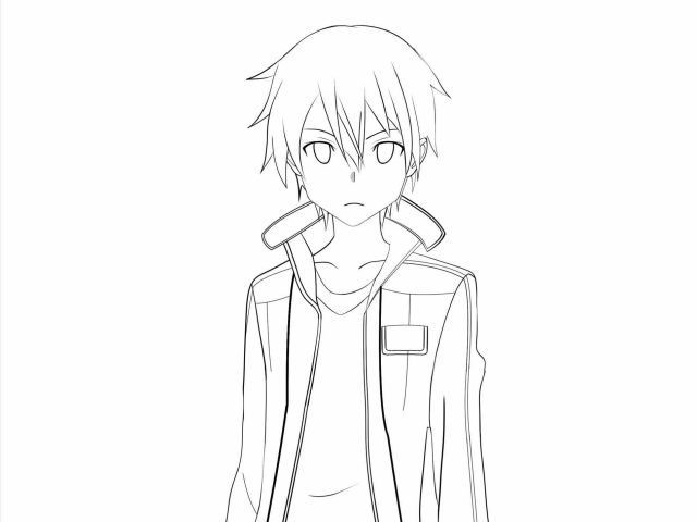 640x480 People How Anime Character Face Sketches To Draw A Cute Step By