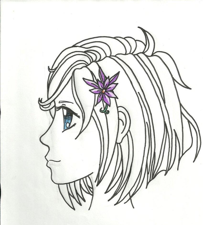850x940 Anime Girl Face