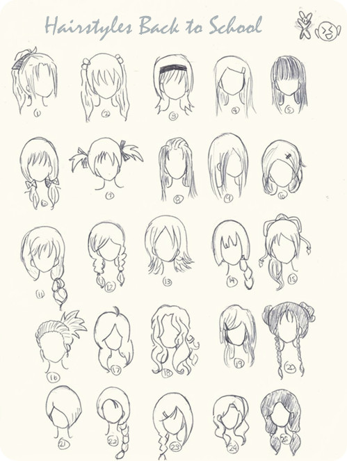 how to draw anime girl hair ponytail