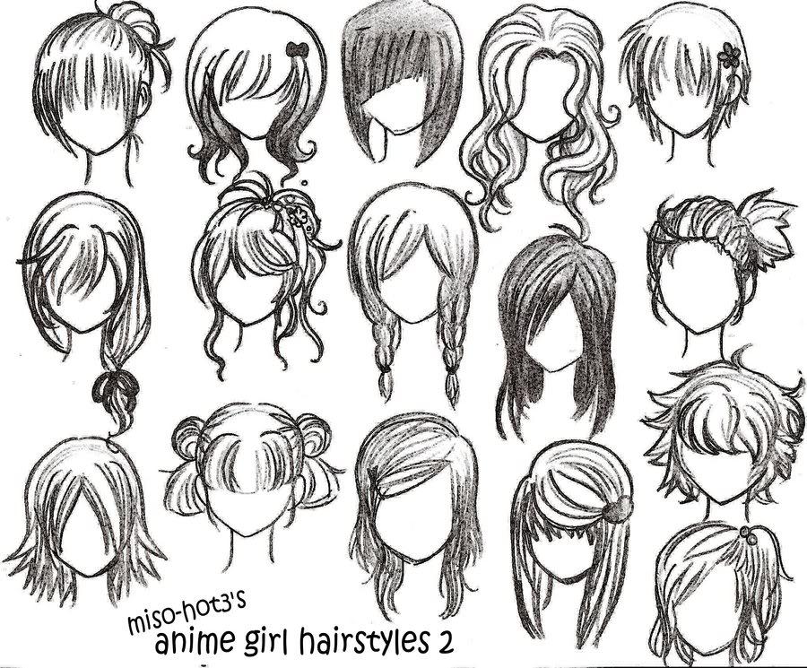 900x745 Draw Anime Girl Long Hair Tags Drawings Of Girls Hair How