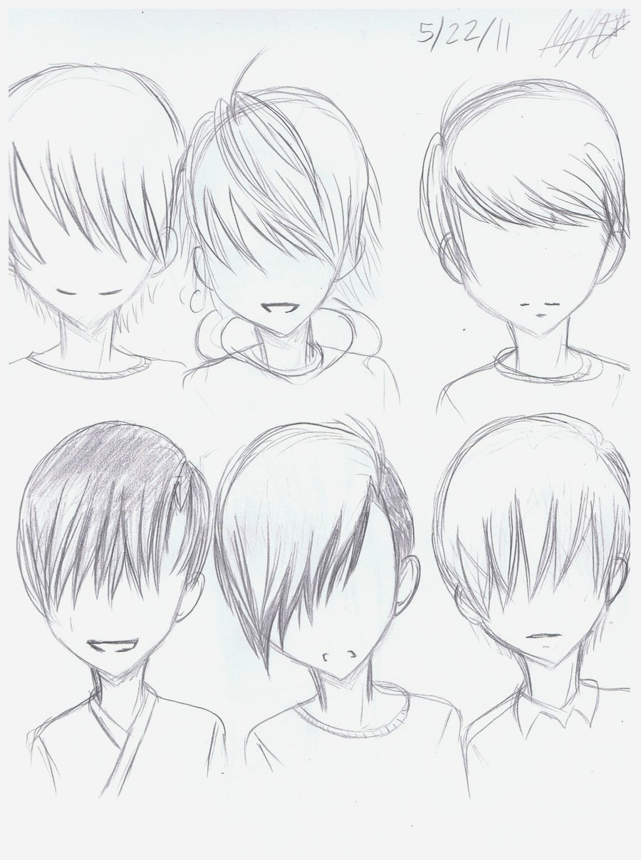 Anime Guy Hairstyles Drawing At Getdrawings Free Download
