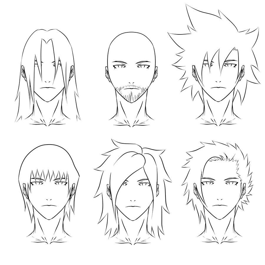 900x900 Anime Hair Syles 2 By Skellebones