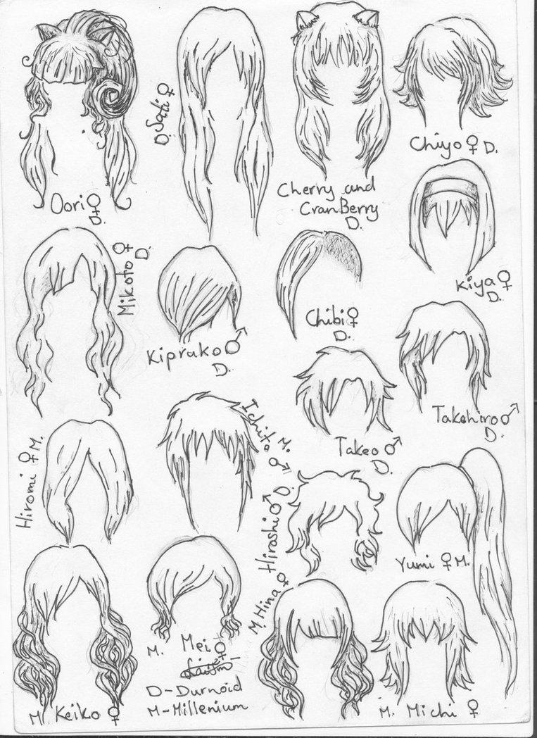 763x1048 Hair Sketches. By Bronitronas