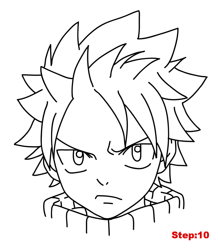 900x1024 How To Draw Natsu From Fairy Tail