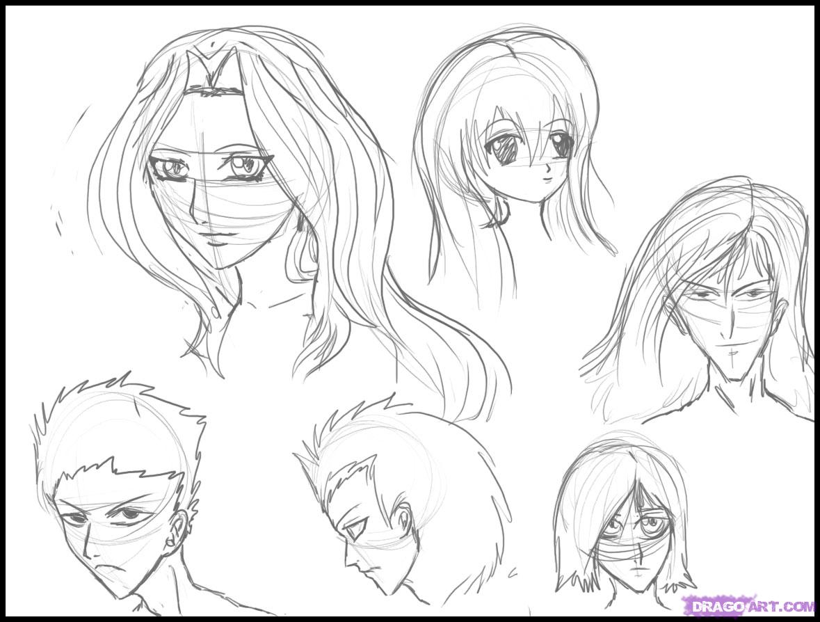 1179x894 Anime Drawing Website How To Draw Anime Hair, Step By Step, Anime