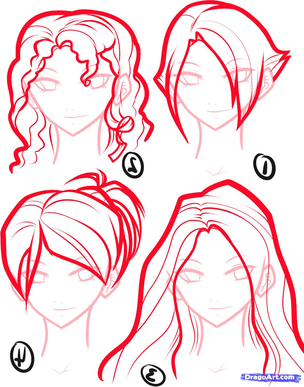 1178x1495 Step By Step Anime Hair