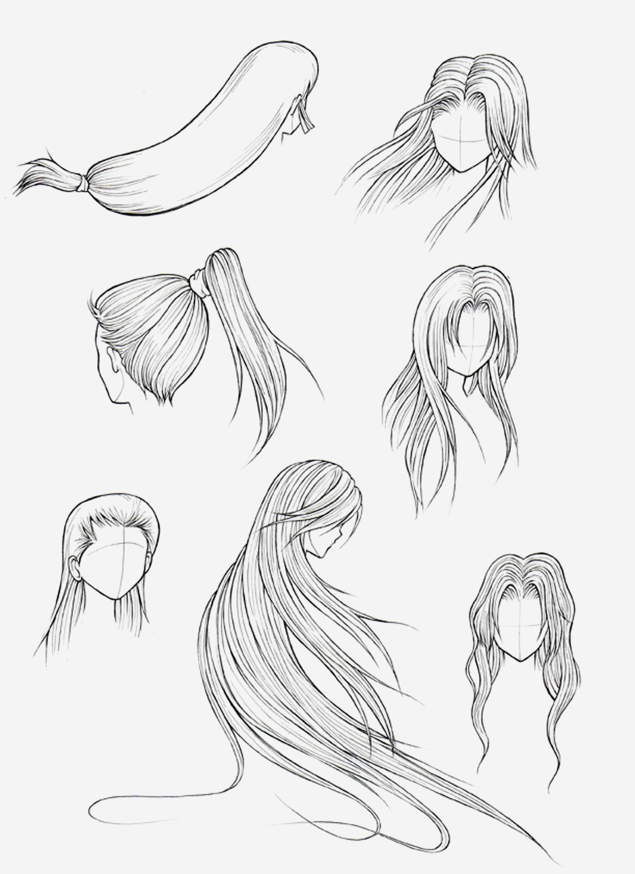 1242x1709 Cute Hairstyles Simple Cute Anime Hairstyles For Long Hair
