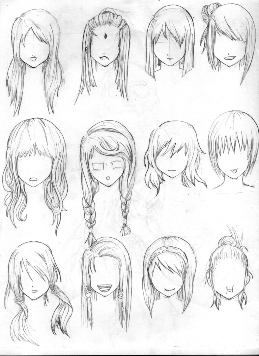 891x1227 Hairstyles ~ Anime Girl Hairstyle Hairstyle Women Amp Man Anime