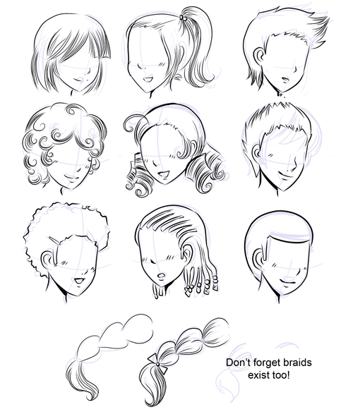 500x584 How To Draw Manga How To Draw Manga Hair
