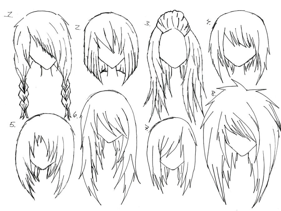 900x676 Love Anime Hair Idraw Anime Hair, Drawing
