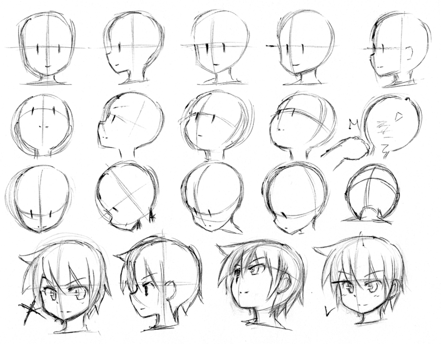 900x701 Sketches Done In 12 Hours Livestream. Some Head Structure Studies