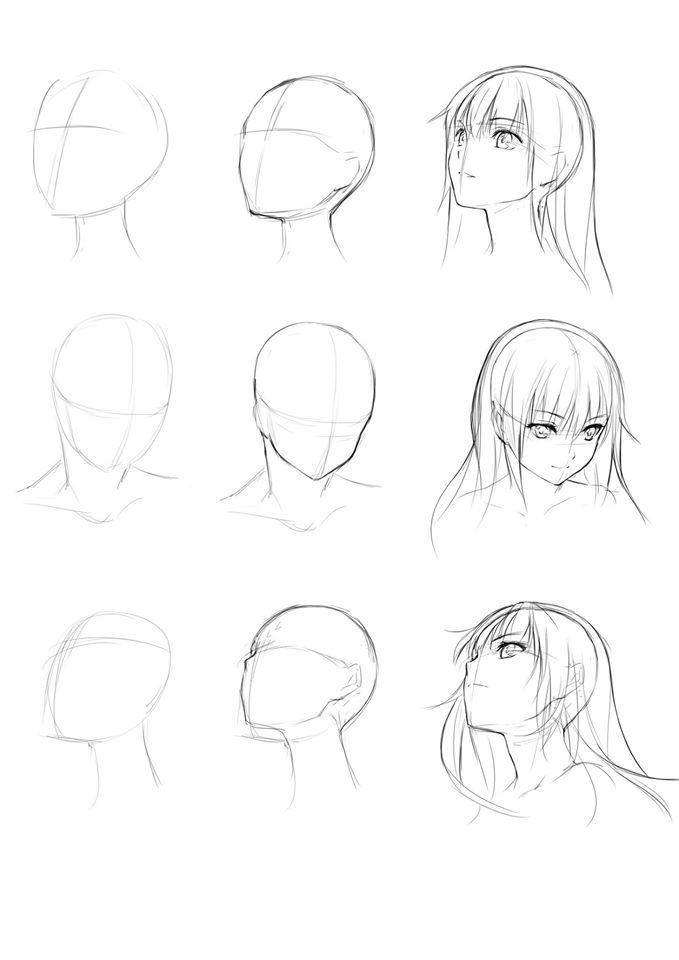 Anime Head Drawing