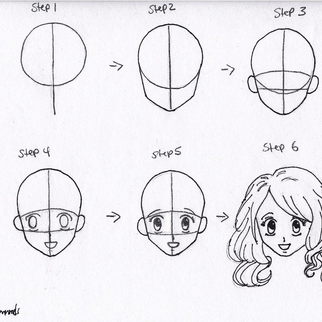 1024x1024 Anime Basic Drawing Anime Basic Drawing Draw Basic Anime Face
