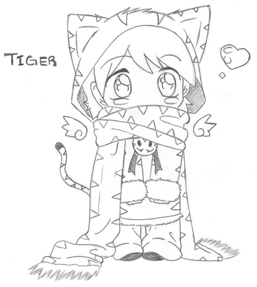 816x912 Hoodie Collection Tiger By G2cutie