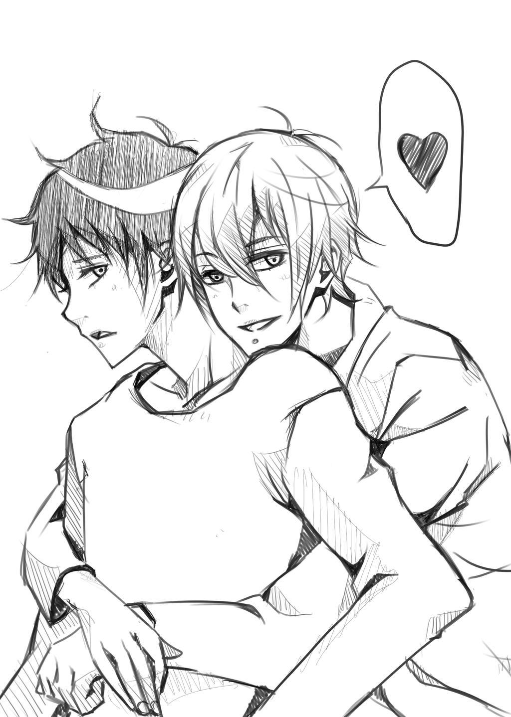 1024x1438 Lovely Hug By Chibix86