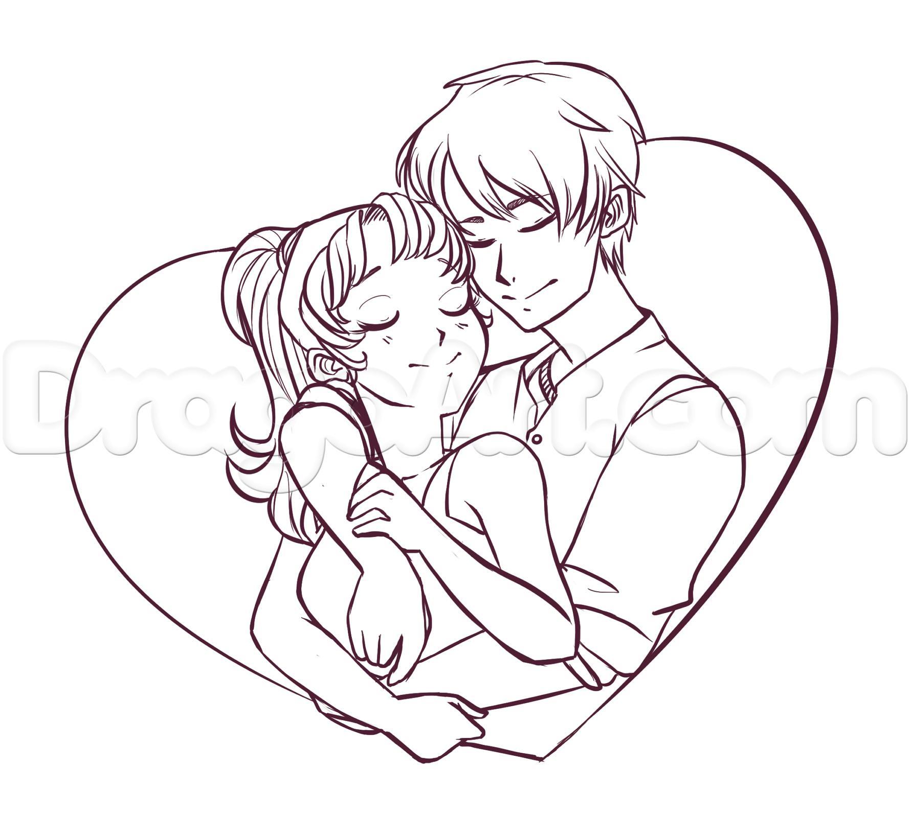 1779x1627 Simple Drawings Of Loving Huggings How To Draw An Anime Hug Step 8