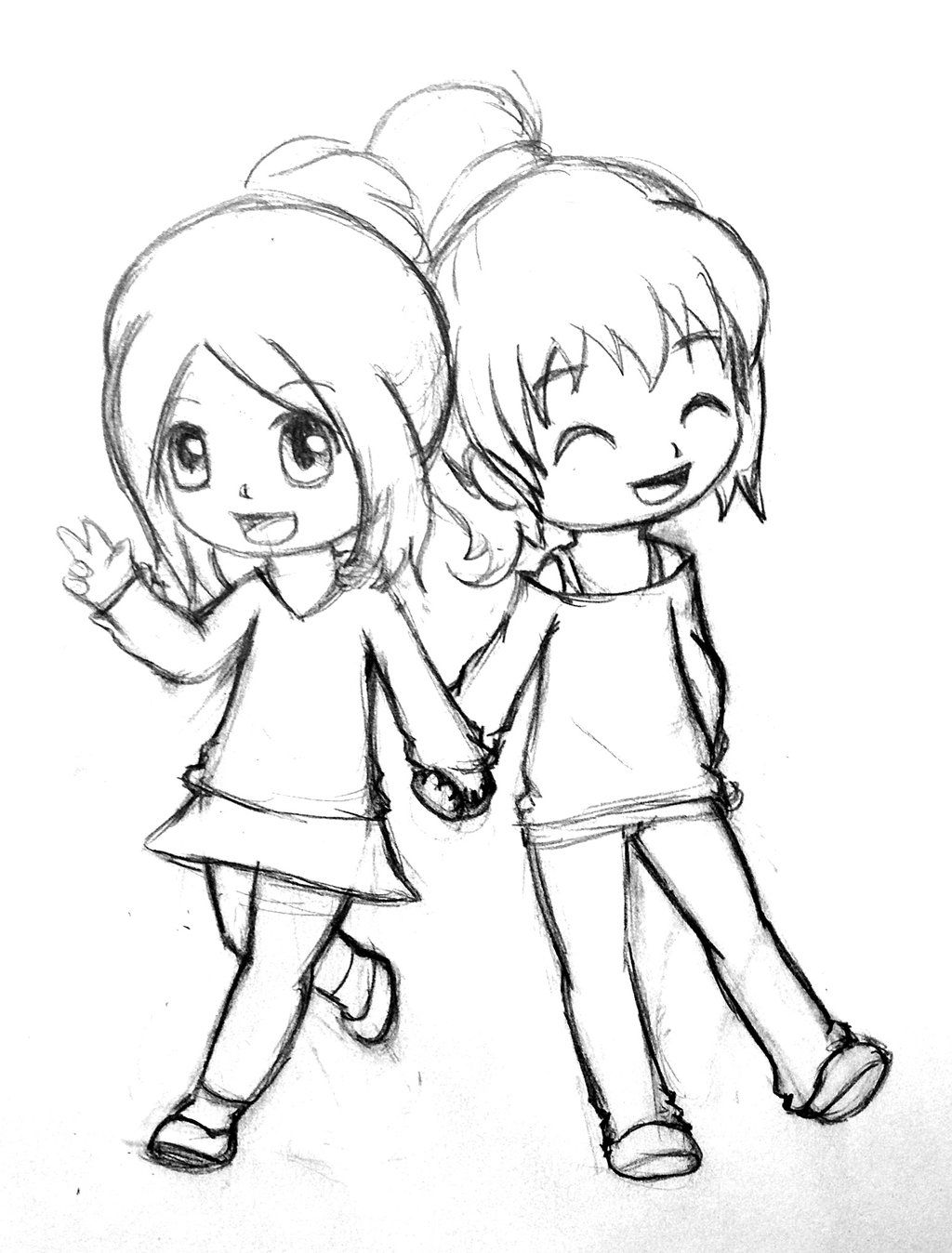 1024x1348 Anime Boy And Girl Best Pencil Art Images