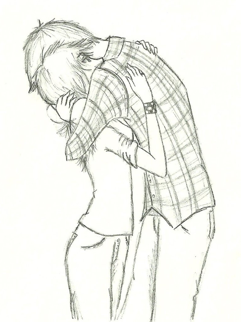 772x1034 Anime Couple Hugging Drawing 3d Sketch Anime Couple