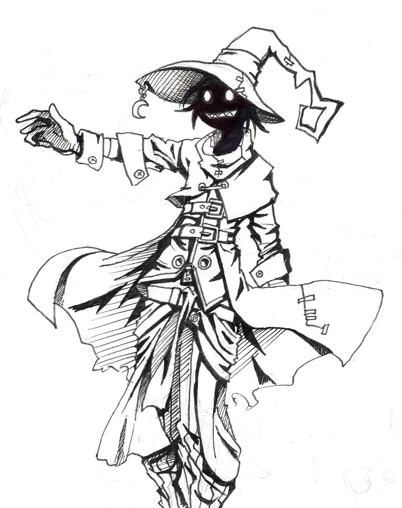 817x1033 Black Mage Jump By Jump Button