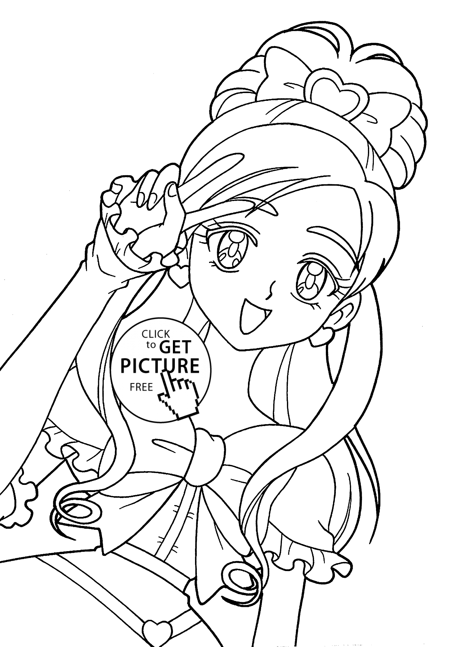 1483x2079 Coloring Pages Of Anime Characters Girls Free