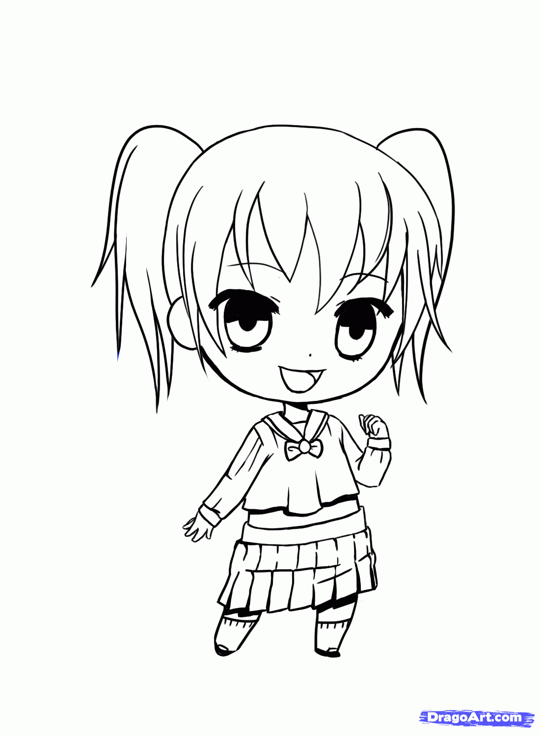 1100x1500 How To Draw Anime Kid Girl Pics Of Anime Girls Easy To Draw Anime