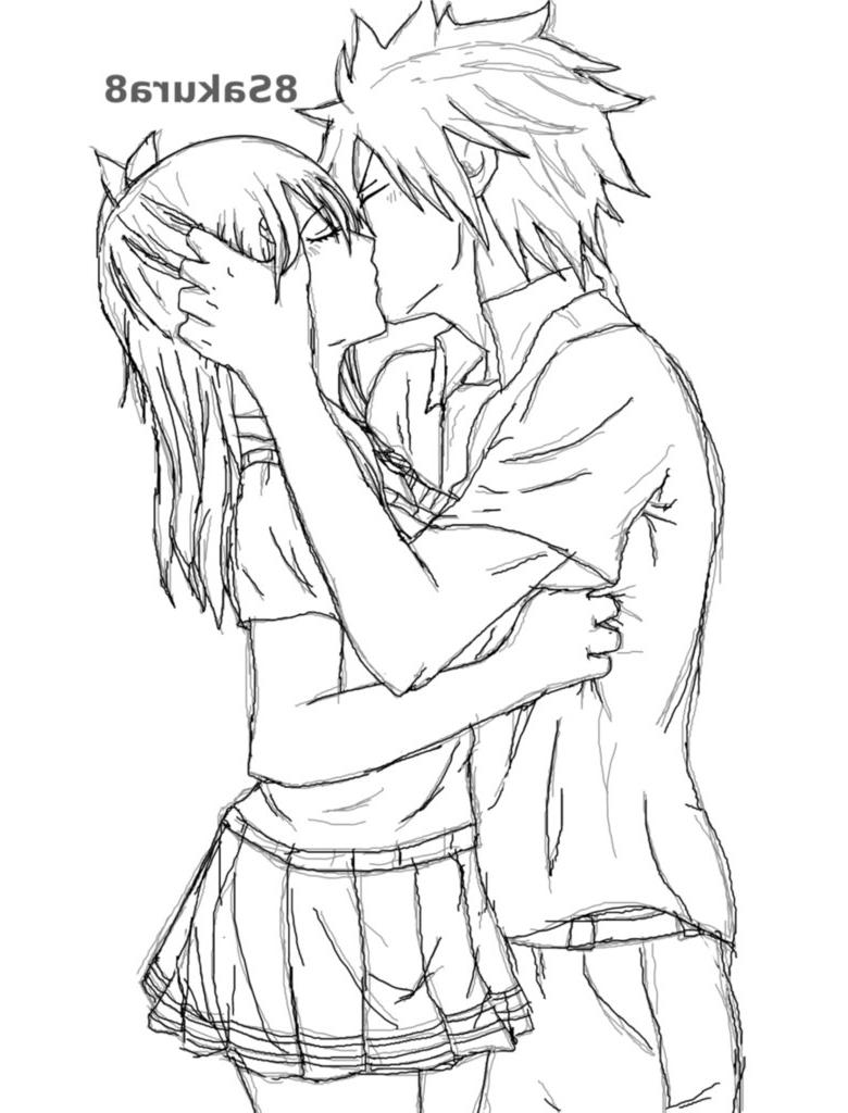 780x1024 Animes Kissing Drawing Using Pencel Drawn Anime Kiss