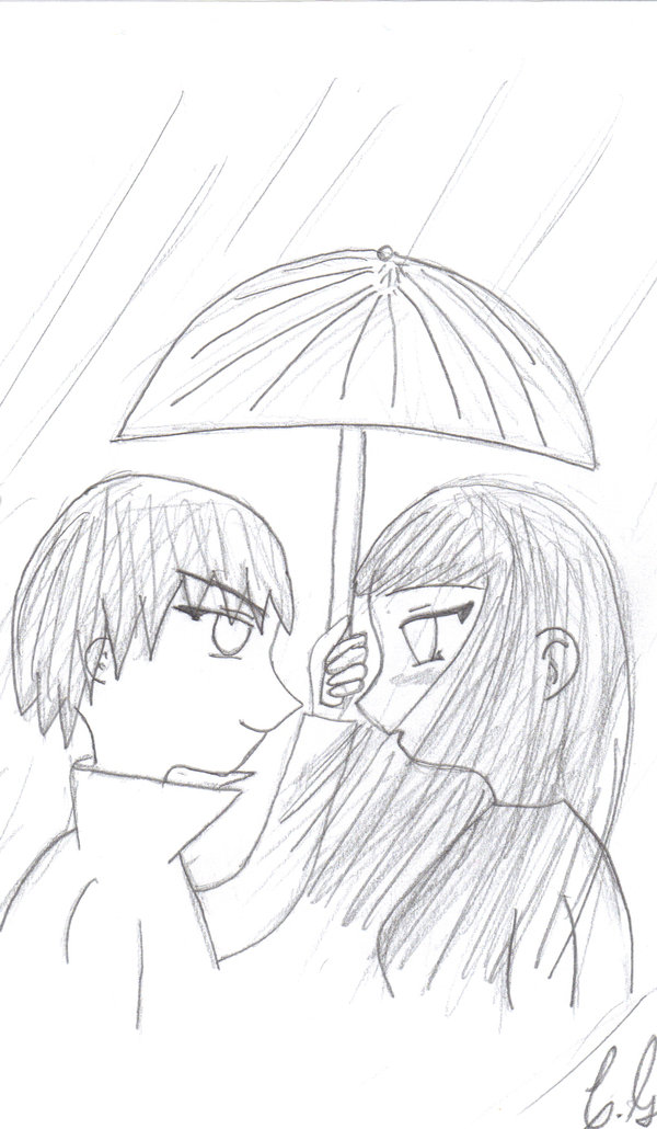 600x1030 Cute Anime Couple Drawing By Lina808