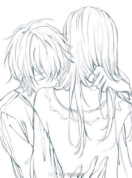 446x604 Anime Kiss Sketch