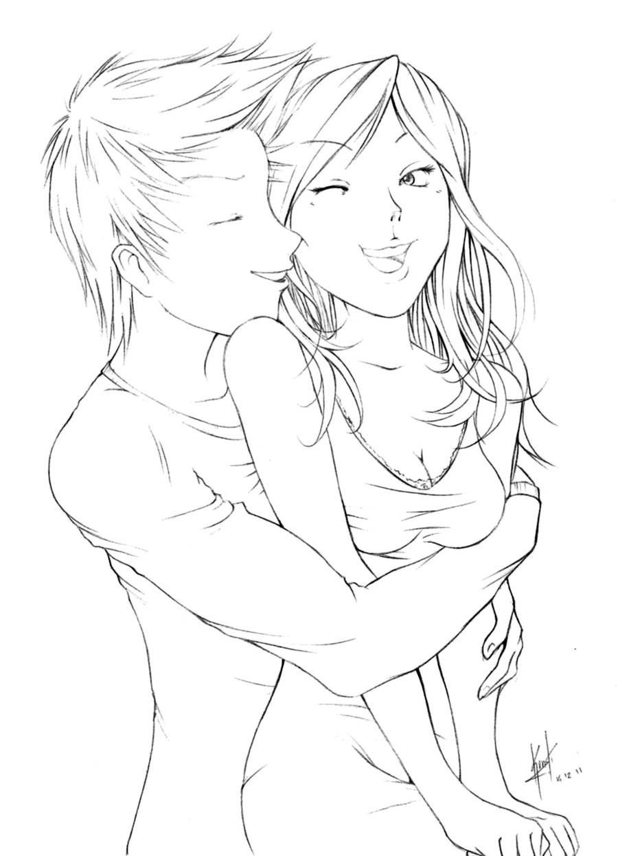 Anime Kissing Drawing At Getdrawingscom Free For Personal