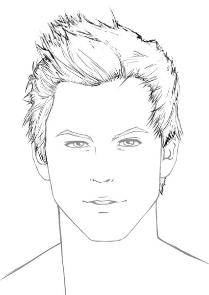 426x600 How To Draw Hair Male Sharenoesis
