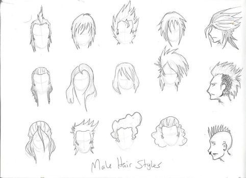 482x350 Ideas About Drawing Male Hairstyles,